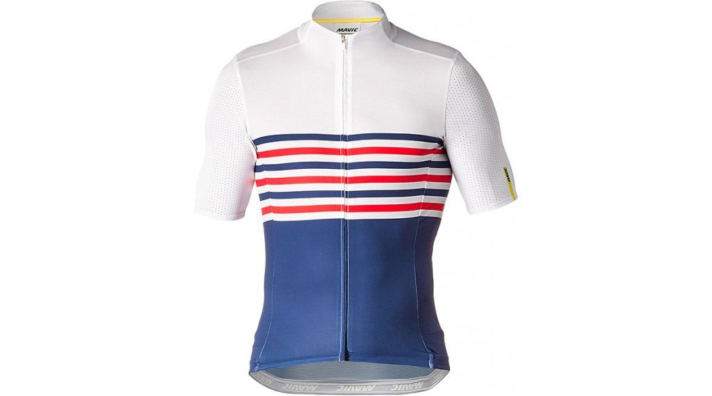 skate shoes newest collection great quality Mavic Cosmic Jersey La France- Limited Edition road bike- jersey short  sleeve men size L white/blue/red