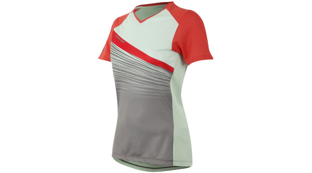 Pearl Izumi Launch jersey short sleeve ladies size S poppy red/mist green fracture