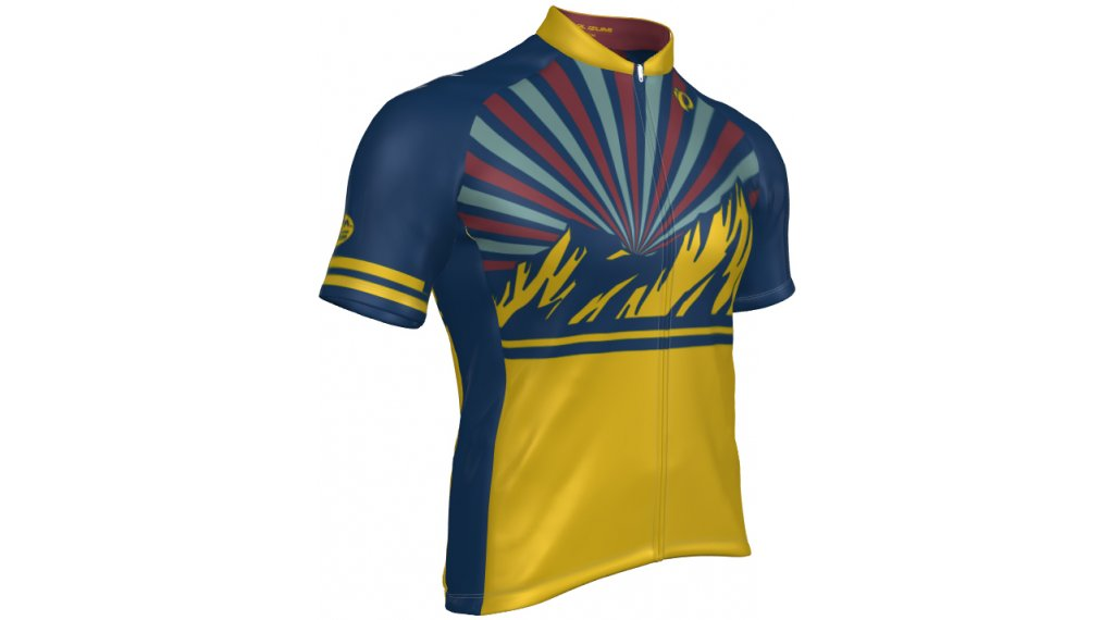 Pearl Izumi Select Escape LTD road bike- jersey short sleeve men size S sunrise midnight navy/yellow curry