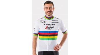 Santini Trek-Segafredo Team World Champion Replica Trikot kurzarm white/yellow