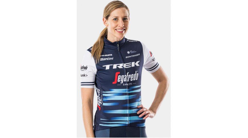 Santini Trek-Segafredo Team Replica Trikot kurzarm Damen Gr. XS dark blue/white