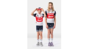 Santini Trek-Segafredo Team Replica Trikot kurzarm Kinder Gr. XS white/dark blue