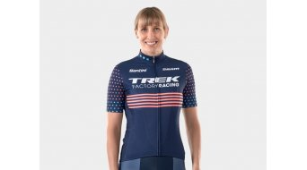 Santini Trek Factory Racing CX Replica jersey short sleeve ladies blue/pink
