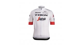 Santini Trek-Segafredo Replica Tour de France Edition tricot korte mouw heren wit model 2018