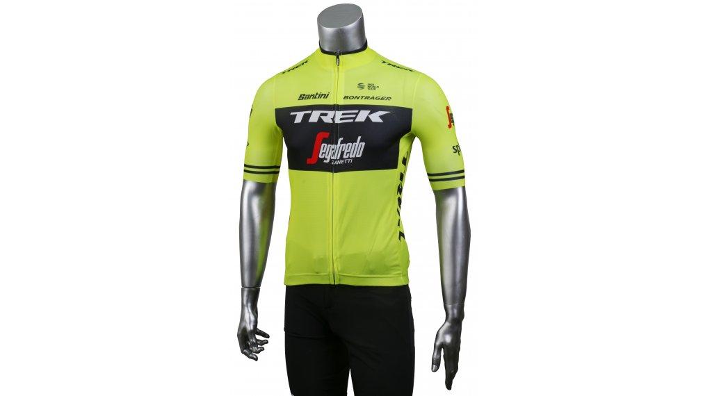 Santini Trek-Segafredo Replica Trikot kurzarm Herren Gr. XS visibility yellow/black