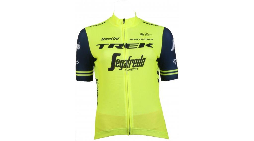 Santini Trek-Segafredo Replica Trikot kurzarm Damen Gr. XS visibility yellow
