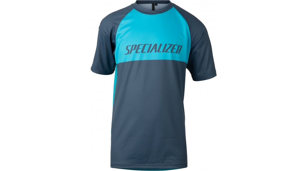 Specialized Enduro Grom Trikot kurzarm Kinder Gr. L aqua/cast blue block
