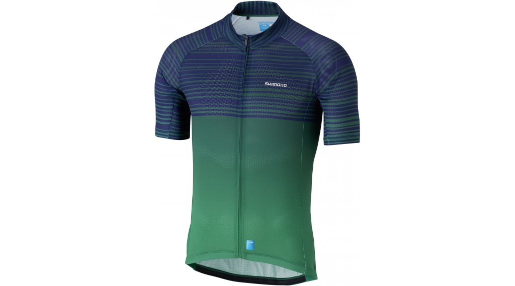 Shimano Climbers jersey short sleeve men size L green