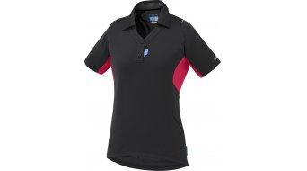 Shimano Polo maglietta manica corta da donna- maglietta . nero/jazzberry