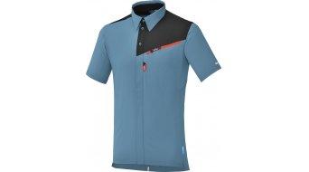 Shimano Button Up Trikot kurzarm Herren-Trikot aegean blue
