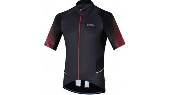 Shimano Mirror Cool maillot de manga corta Caballeros-maillot negro/rojo