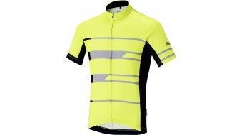 Shimano Team rueda-maillot de manga corta Caballeros color neón amarillo