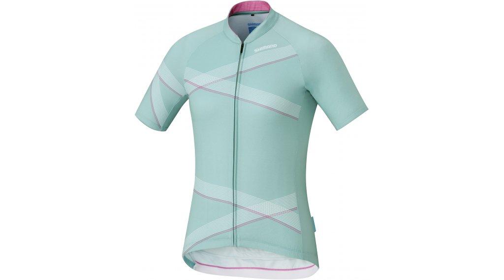 Shimano Team Trikot kurzarm Damen Gr. XS green/white