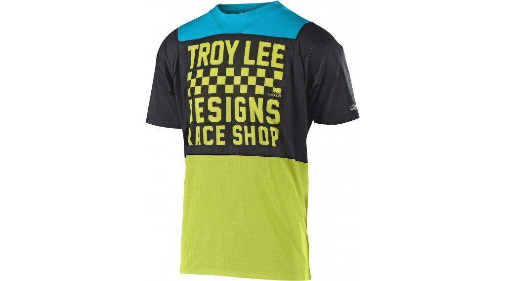 Troy Lee Designs Skyline MTB-Trikot kurzarm Kinder Gr. SM checker black/lime
