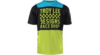 Troy Lee Designs Skyline MTB(山地)-领骑服 短袖 儿童 型号 SM checker black/青柠色