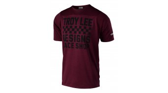 Troy Lee Designs Skyline Checker MTB-Trikot kurzarm Herren Gr. XL heather sangria