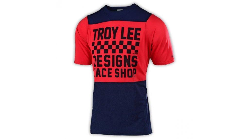 Troy Lee Designs Skyline MTB(山地)-领骑服 短袖 儿童 型号 MD (M) checkers navy/red