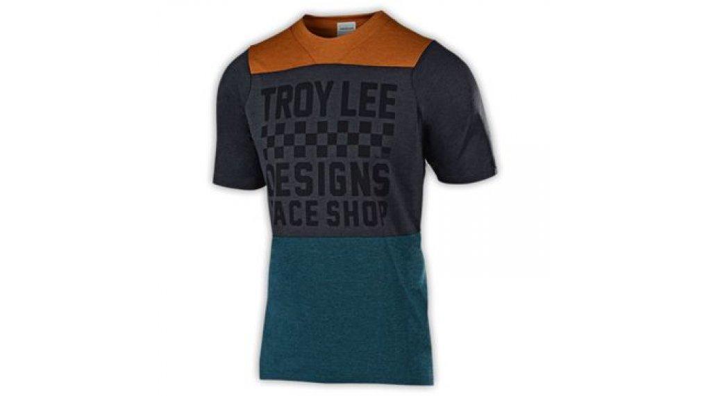 Troy Lee Designs Skyline MTB-Trikot kurzarm Kinder Gr. MD (M) checkers bourbon/corsair