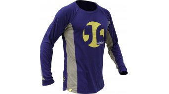Dirtlej Mountee Warm jersey long sleeve men blue/yellow