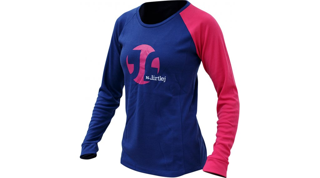 Dirtlej Mountee Warm Trikot langarm Damen Gr. XL blue/pink