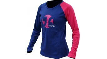 Dirtlej Mountee Warm Trikot langarm Damen blue/pink
