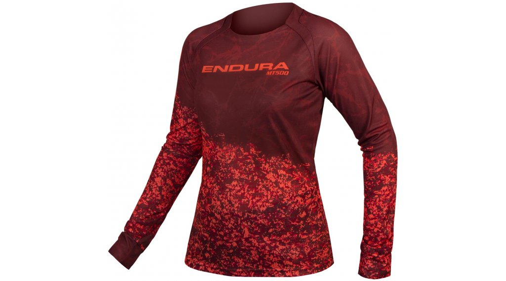 Endura MT500 Marble LTD Trikot langarm Damen Gr. XS cocoa