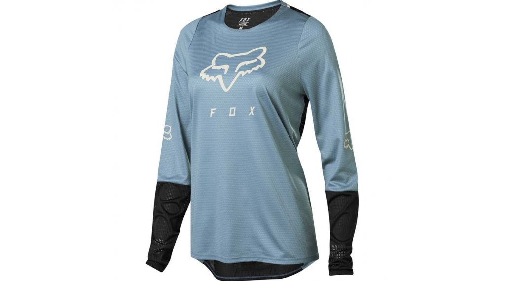 Fox Defend MTB-Trikot langarm Damen Gr. M light blue