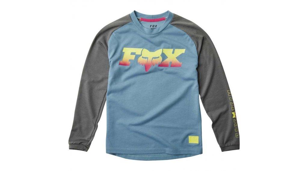 Fox Ranger DR MTB-Trikot langarm Kinder Gr. S light blue