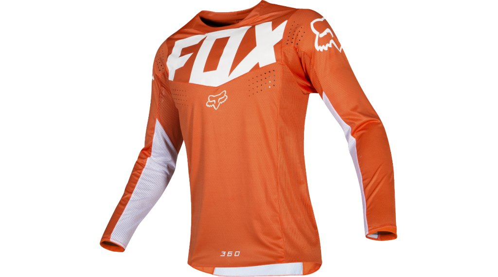 FOX 360 Kila Мъжко мотокрос трико с дълъг ръкав, размер M orange