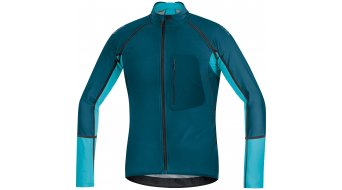 GORE BIKE WEAR Alp-X Pro maglietta manica lunga uomo MTB Zip-Off WINDSTOPPER Soft Shell mis. M ink blue/scuba blue