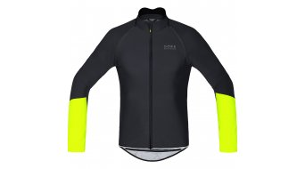 GORE Bike Wear Power Trikot langarm Herren-Trikot Rennrad Zip-Off Windstopper Soft Shell black/neon yellow