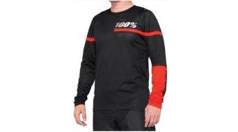 100% R-Core MTB-Trikot langarm Herren black/red
