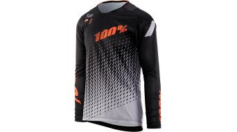 100% R-Core DH maillot manga larga Caballeros supra negro/grey