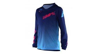100% R-Core Supra DH jersey long sleeve kids size L blue