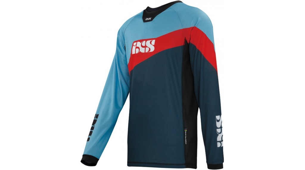 iXS Race 7.1 DH Worldcup-Edition Trikot langarm Herren Gr. S night blue / fluo red