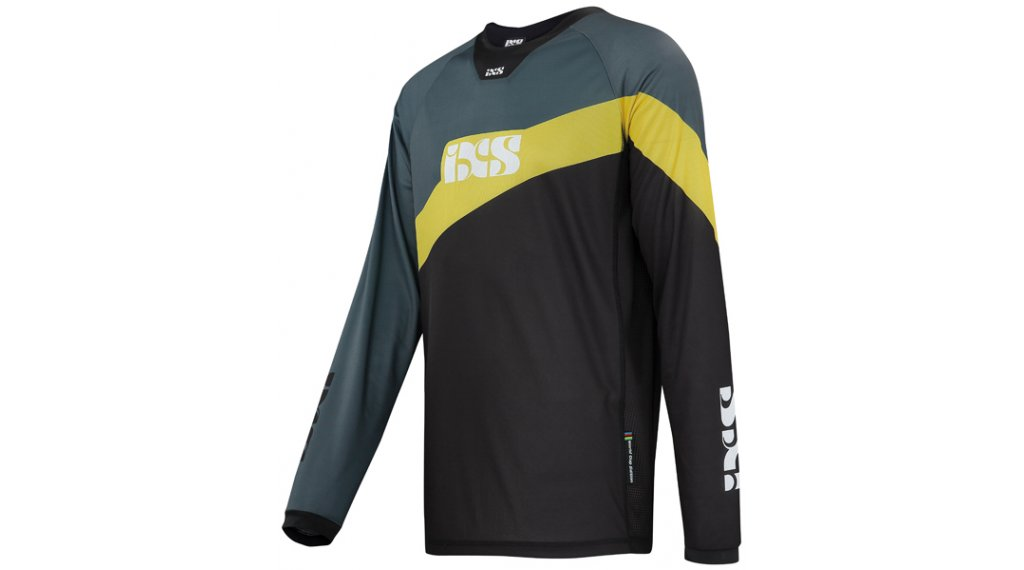 iXS Race 7.1 DH Worldcup-Edition Trikot langarm Herren Gr. S black/yellow