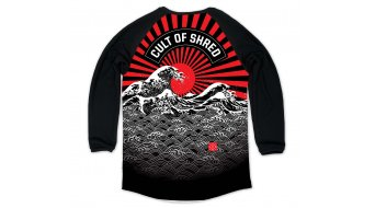 Loose Riders Rising Sun maillot niños manga larga tamaño S negro/rojo