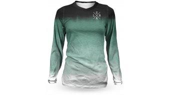 Loose Riders Fade Forest maillot manga larga Señoras verde/negro/blanco