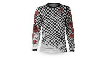 Loose Riders G-Shred Check Trikot langarm Gr. XS white/red