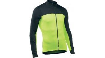 Northwave Force 2 Full Zip jersey long sleeve men black/yellow fluo