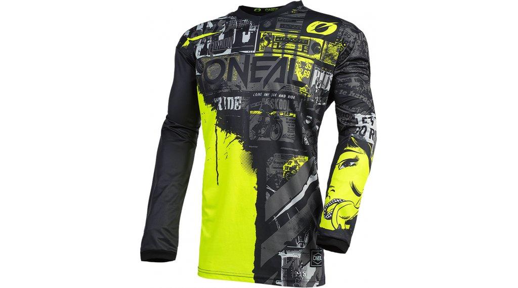 ONeal Element Ride Trikot langarm Herren Gr. L black/neon yellow