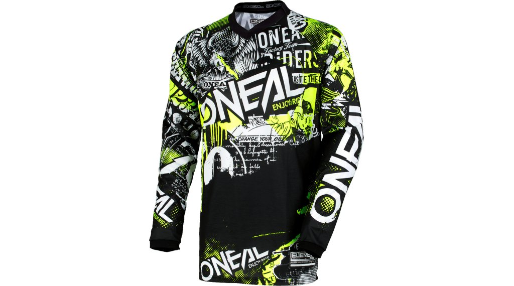 ONeal Element Attack Kinder-Trikot langarm Gr. S neon yellow Mod. 2020