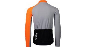 POC Essential Road Mid Rennrad-Trikot langarm Herren Gr. S granite grey/zink orange