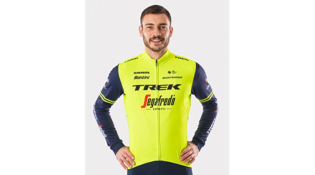 Santini Trek-Segafredo Team Thermal Trikot langarm Gr. XS white/dark blue