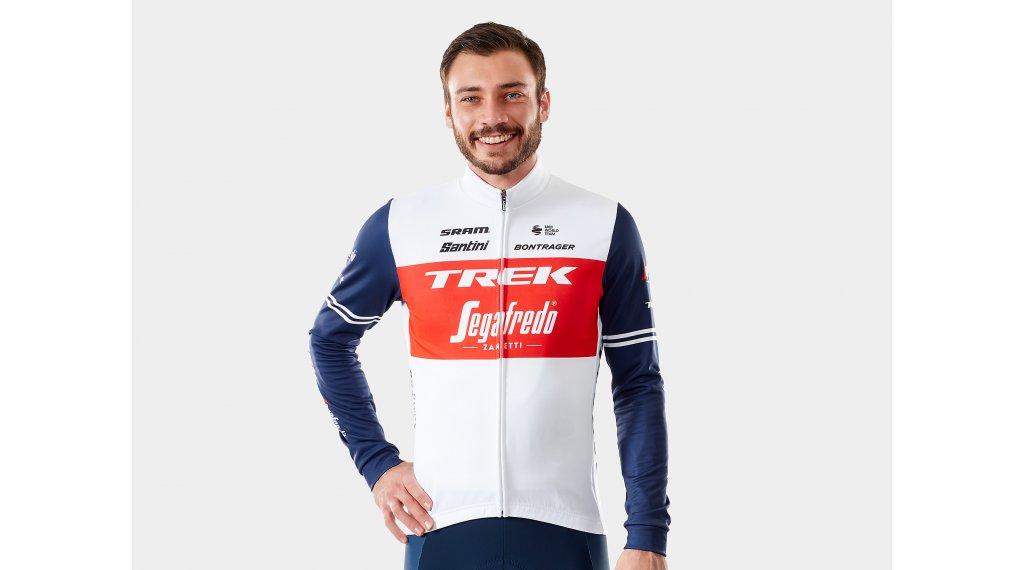 Santini Trek-Segafredo Race Trikot langarm Herren Gr. S white/blue