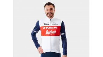 Santini Trek-Segafredo Race jersey long sleeve men white/blue