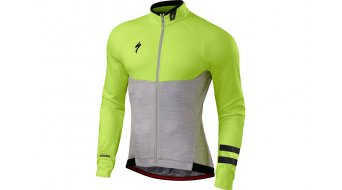 Specialized Therminal Trikot langarm Herren Gr. M light grey heather/neon yellow - VORFÜHRTEIL