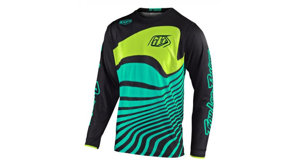 Troy Lee Designs GP Air MX-Trikot langarm Kinder Gr. SM (S) drift black/turquoise