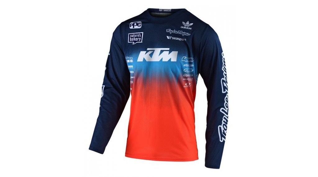Troy Lee Designs GP MX-maillot manga larga niños tamaño SM (S) staind team navy/naranja