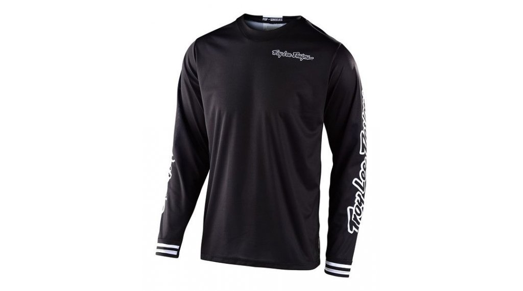 Troy Lee Designs GP MX-Trikot langarm Kinder Gr. XS mono black